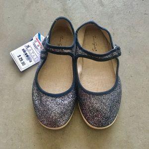 Zara girl glittery ballet flat size 28